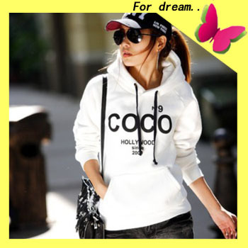 HOT Selling 2013 new fashion Women's COCO Printed Hoodies Leasure tracksuit Sweatshirt Tracksuit Tops Outerwear With Hat-in Hoodies & Sweatshirts from Apparel & Accessories on Aliexpress.com