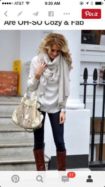 scarf oversized gray scarf