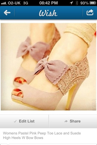 shoes cute pretty bows heels medium heels