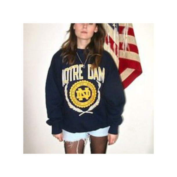 Top Sweater Sweat The Style Vintage Retro Sweater Notredame