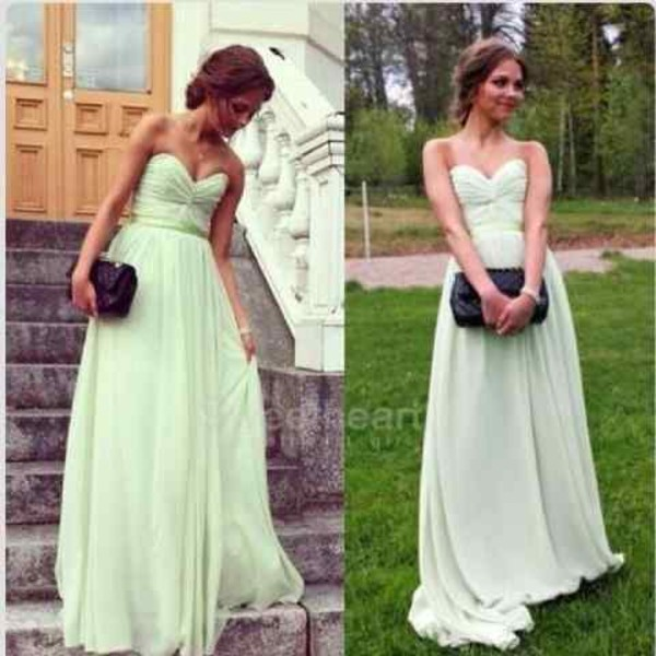 dress mint dress prom dress green dress long dress gown