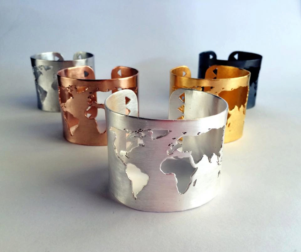 Travel Bracelet World Map Bracelet Wanderlust Collection