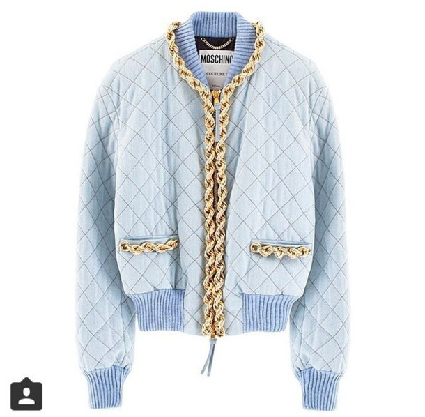 jacket moschino #blue #gold