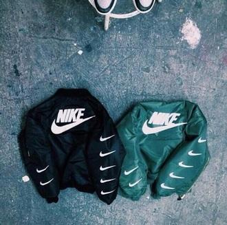 jacket nike black vintage