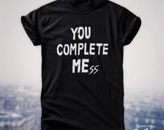 black shirt luke hemmings you complete mess shirt
