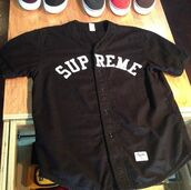 shirt,black,white,supreme,quote on it,jacket,jersey