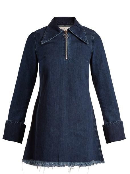 MARQUES ALMEIDA dress mini dress denim mini blue