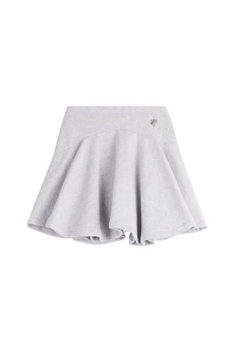 skirt mini skirt mini cotton grey