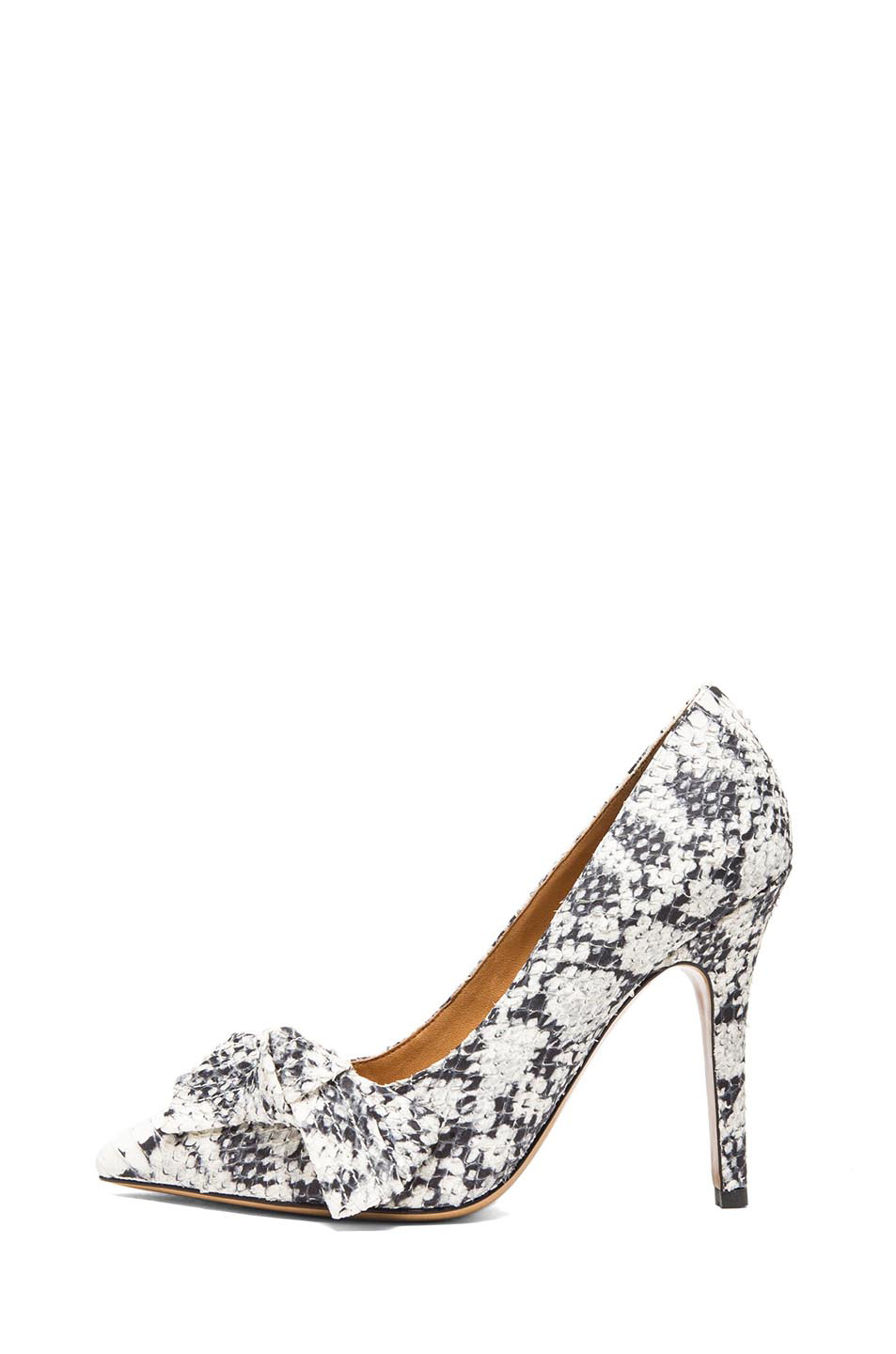 Isabel Marant|Poppy Pumps in Beige Python
