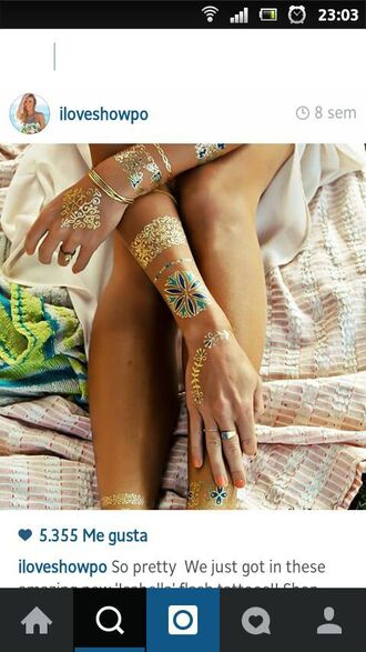 make-up temporary tattoo fake tattoos golden tattoo