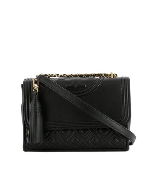 Tory Burch bag shoulder bag leather black black leather