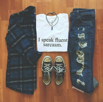 shirt flannel sarcasm cool teenagers