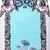 White Blue Sleeveless Floral Backless Dress - Sheinside.com