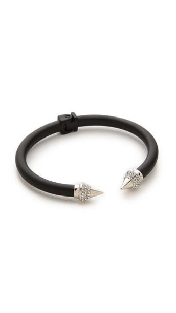 Vita Fede Mini Titan Two Tone Crystal Bracelet - Matte Black/Silver
