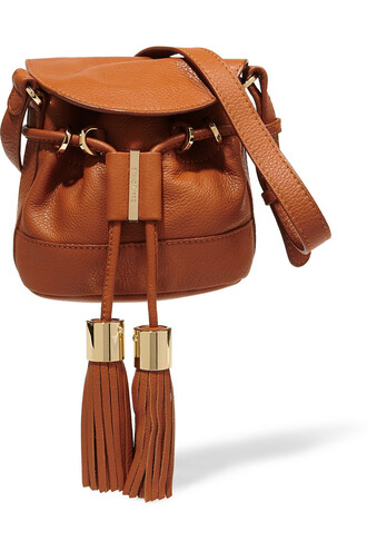 mini bag shoulder bag leather tan