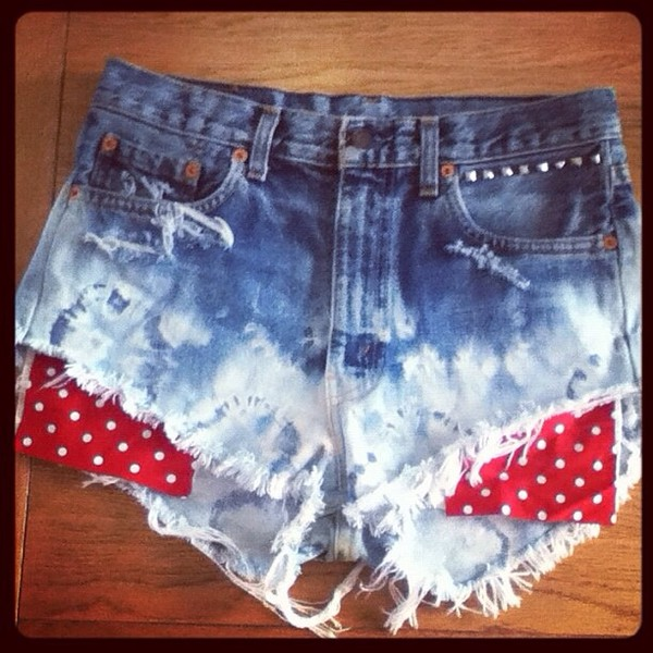 shorts bleached short