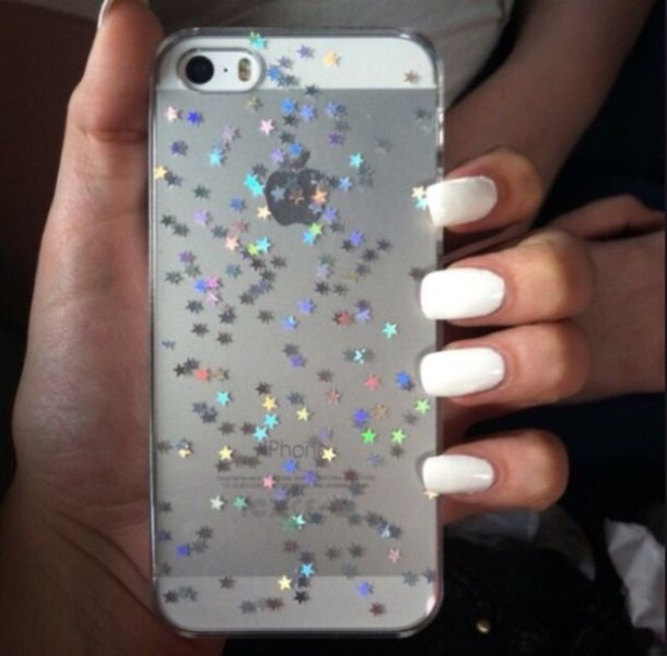 phone cover iphone 5c glitter stars sparkle