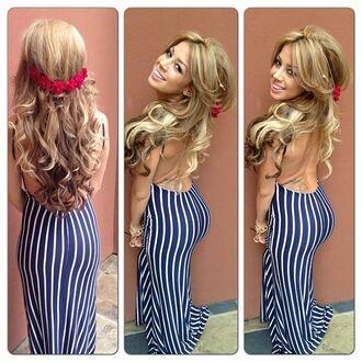 dress maxi dress backless dress backless hair accessories flower crown flower headbands