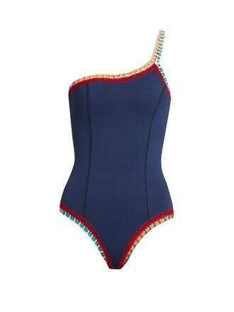crochet navy swimwear