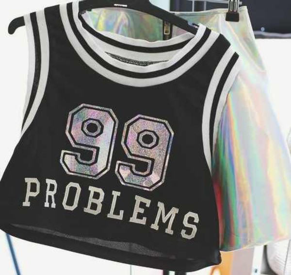 tank top quote on it 99 problems skirt shirt