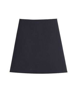 miniskirt cotton blue skirt