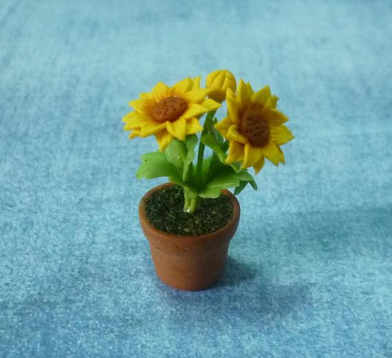 Miniature Flowers Sunflower Tree 1 12 Scale Mini Sunflower Dollhouse
