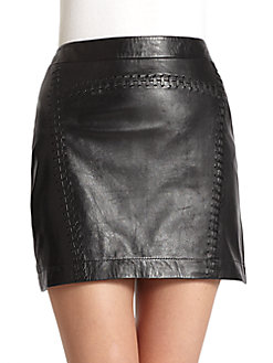 Leather Mini Skirt - SaksOff5th