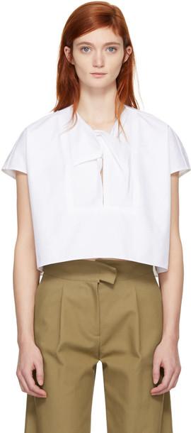 Carven blouse white top