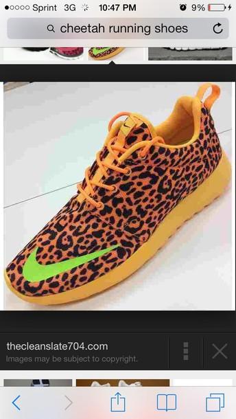 shoes yellow cheetah running shoes