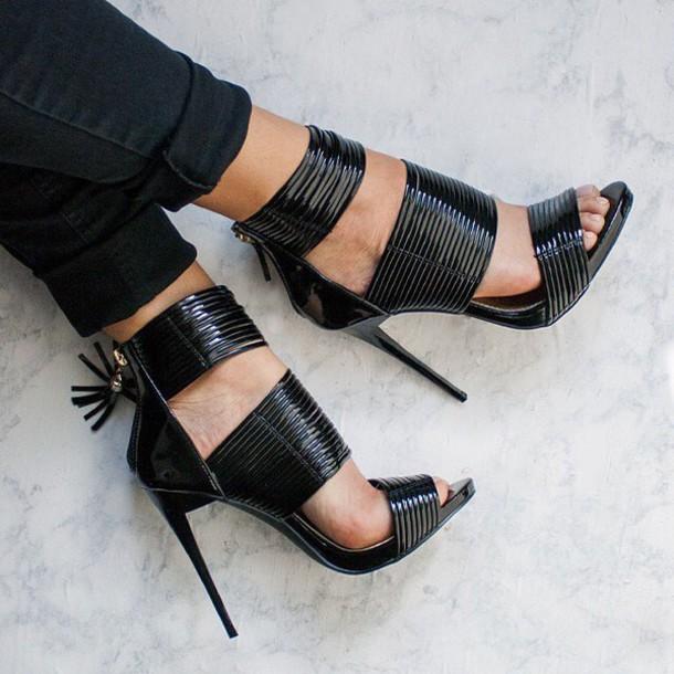 043a21e3c2 shoes black patent patent heel heel christian quote on it love shiny gojane