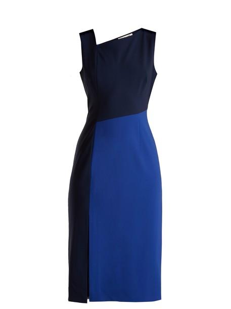 Diane Von Furstenberg dress wool navy