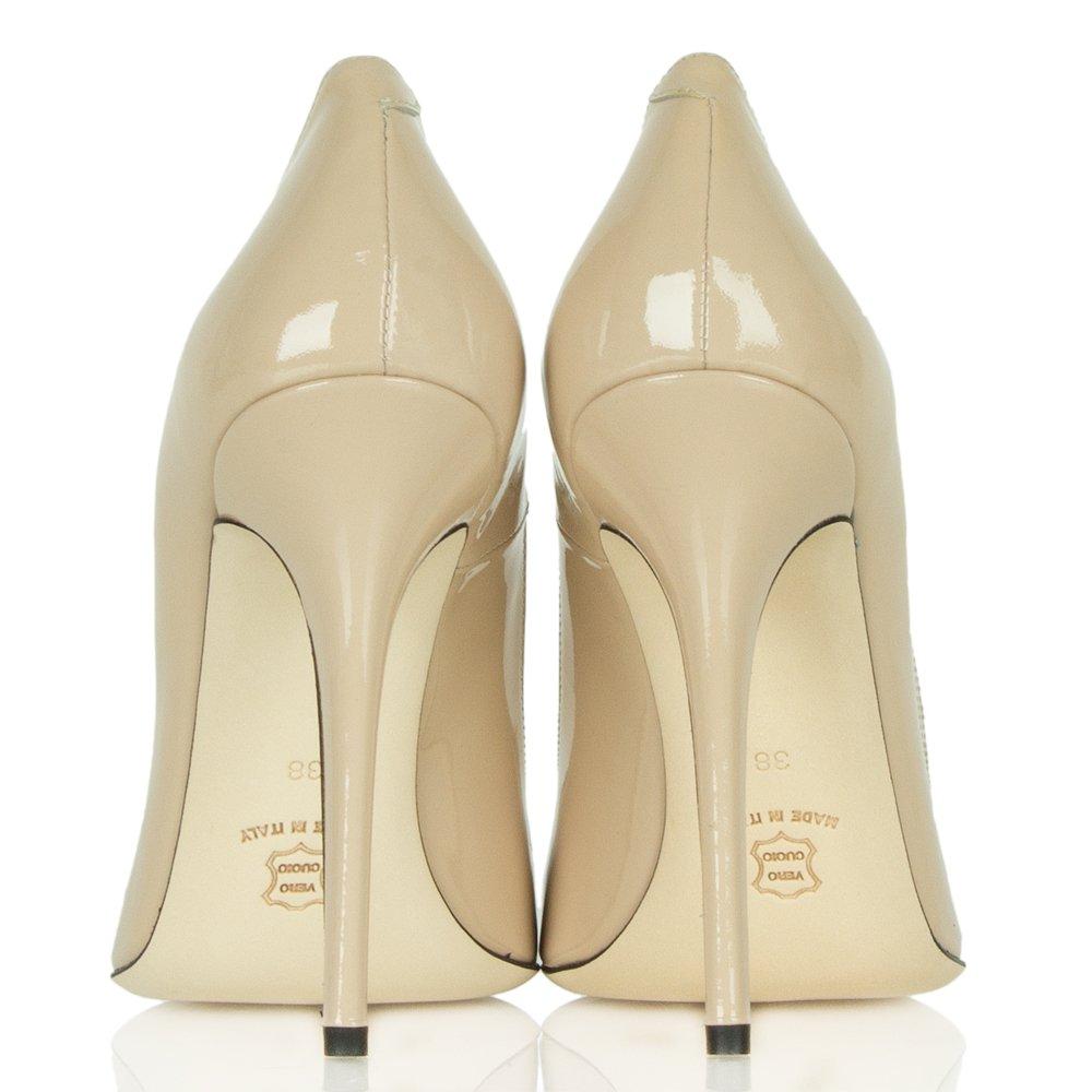 Daniel Mustio Nude Patent Court Shoe
