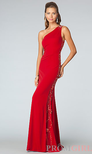 JVN by Jovani Prom Dresses, One Shoulder Prom Dresses and Gowns-PromGirl