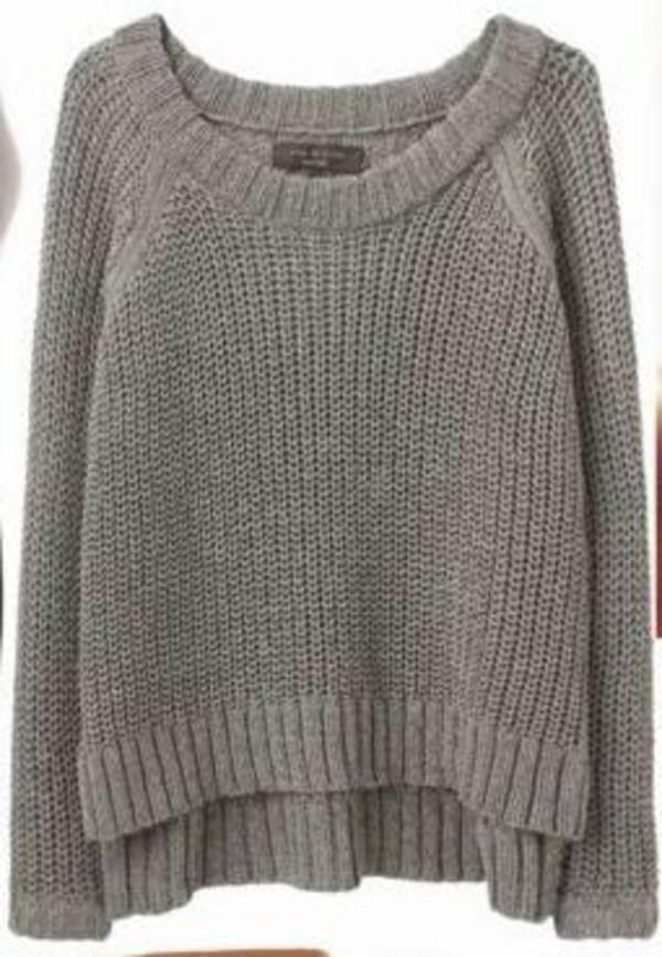 grey crochet stretchy grey sweater comfy sweater