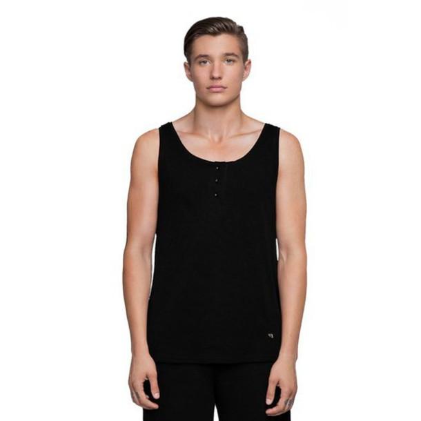 Tank top: black, black tank top, black clothes, clothes ...