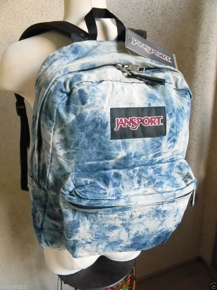 JANSPORT UNISEX ACID WASH BLUE DISTRESSED DENIM DAZE BACKPACK NEW W/TAGS