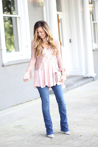 for all things lovely blogger top jeans shoes bag jewels