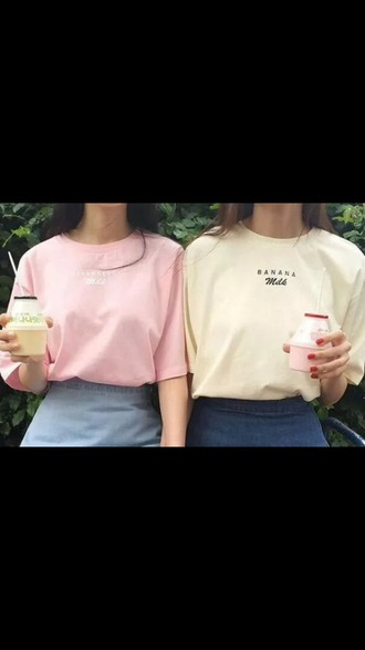 t-shirt tee shirts pink yellow yellow top