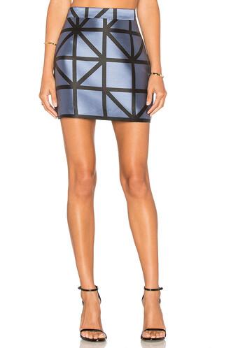 skirt mini skirt mini grid blue