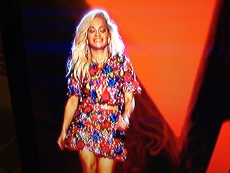 top rita ora flowers the voice dress