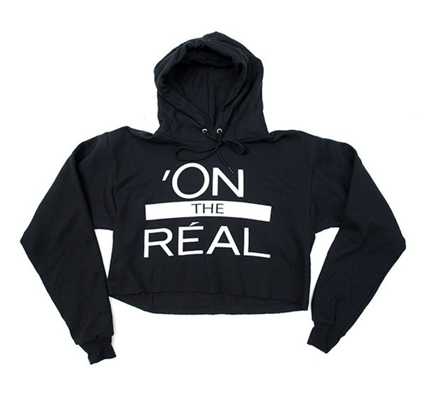 On the real crop sweatshirt