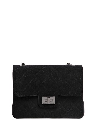 quilted bag shoulder bag black