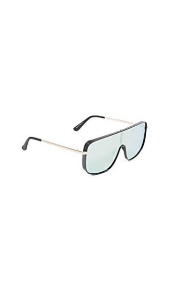 Quay sunglasses black mint