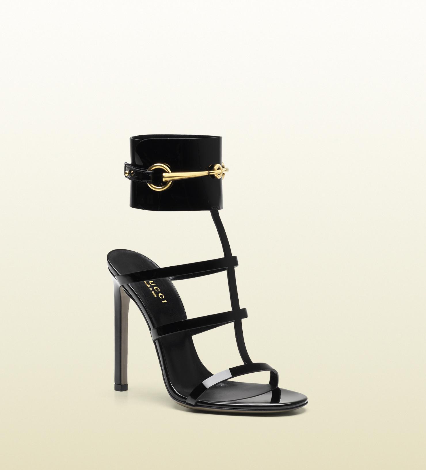 da24f3159810 Gucci - ankle-strap patent leather sandal 319588BNC001000