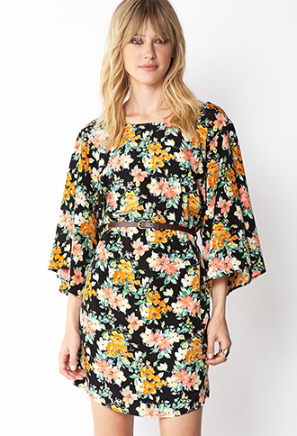 Whimsical Belted Shift Dress | FOREVER21 - 2000072303