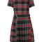 P.a.r.o.s.h. - tartan motif dress - women - spandex/elastane/virgin wool - s, red, spandex/elastane/virgin wool