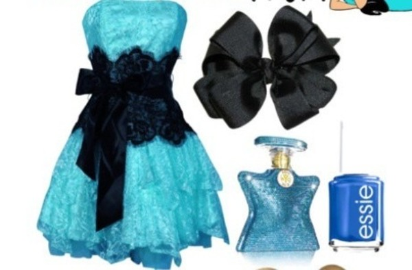 dress party dress black belt blue ruffle details lace ribbon short dress prom prom dress trendy hot black lace neon blue beautiful lace clothes black and blue sleeveless dress turquoise black lace dress frilly dress blue lace prom dress