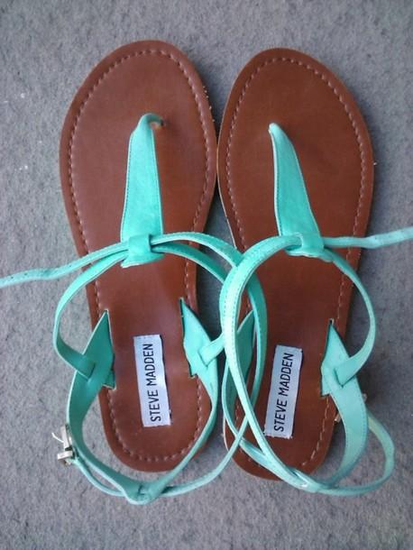shoes blue sandals