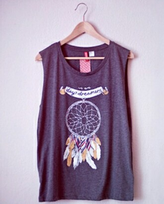 t-shirt grey t-shirt dreamcatcher